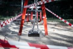 Parque de El Zoco, San Sebastián de los Reyes 27 de agosto, 2020 Los parques infantiles de San Sebastián de los Reyes siguen cerrados desde que el 12 de marzo se aprobase como una de las medidas recomendadas para evitar la propagación del virus.
